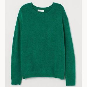 NWT H&M Green Fine-knit Sweater